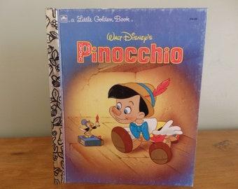 Walt Disney's Pinocchio Little Golden Book published 1990