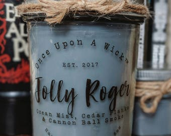 Jolly Roger | Neverland Pirate Inspired Bookish Soy Candle