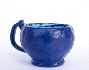 Coffee tea mug handmade ceramic, coffee cup, milk cup, ceramics, Stoneware mug, pottery mug, ceramic mug, ceramics and pottery, cobalt cup