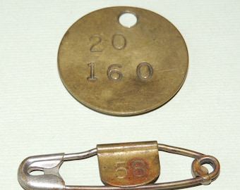 2 Antique Laundry Tags 1902