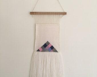 Pyramid Boxes Woven Wall Hanging, Fibre Art