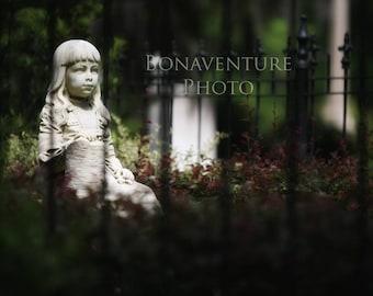 Bonaventure Cemetery Angel Statue Gracie Photograph Wall Art Print Savannah CB2