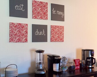Eat Drink and Be Merry Canvases  Customize Colors to Kitchen/ Dining Room Now with more Custom Options