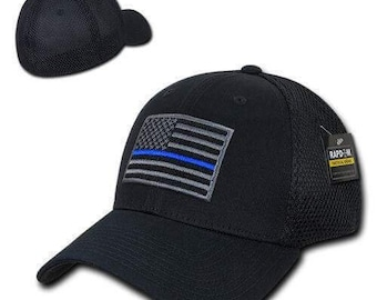 Baseball Cap with Grey Flag Patch