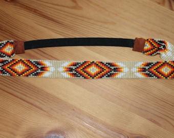 headband beaded woven by hand with elastic