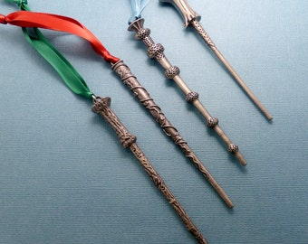 Choose One - Wizard Wand Ornament or Keychain - READY TO SHIP