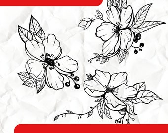 Flowers - Digital Stamps
