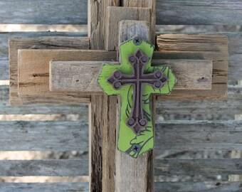 Rustic Cross, Decorative Crosses, Cross Wall Decor, Unique Wall Cross,  Reclaimed Wood