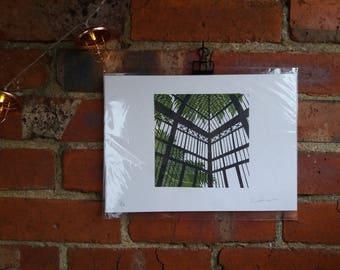 Greenhouse - Linocut