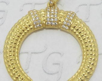 sterling silver 18k gold pated or black rhodium