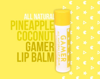 Gamer All Natural Lip Balm - Pineapple Coconut Flavour