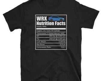 Subaru WRX Nutrition Facts Shirt - New WRX Shirt, Subaru Shirt, STI Shirt, Wrx Shirt, Rally Car Shirt, Subaru Gift, Suby Subie Rally Tee Wrc
