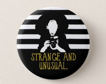 Beetlejuice  -  Badge -  Magnet - Strange and Unusual - 80s - Film - Movies - Lydia Deetz - Tim Burton