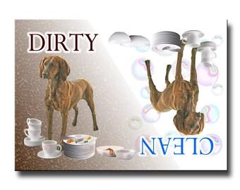 Plott Hound Clean Dirty Dishwasher Magnet