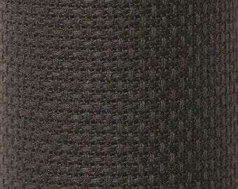 "Black Aida Fabric 14ct Sold per 4"" / 10 cm Fabric Cross Stitch DMC 100% Cotton 14ct Fabric Embroidery Black Cross Stitch Supply DIY DM22/310"