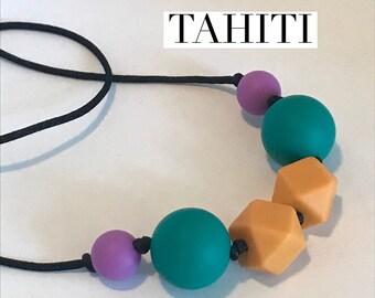 Tahiti - silicone beaded necklace