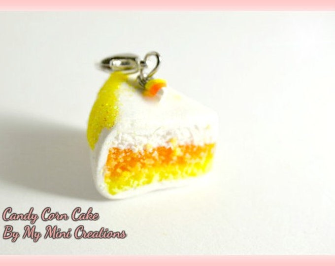 Candy Corn Charm, Miniature Food Jewelry,  Miniature Food,
