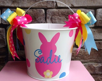Easter Bucket Personalized 5 quart