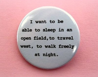 Sylvia Plath - button badge or magnet 1.5 Inch