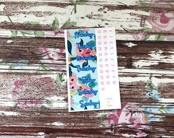 Tropical Date Covers add on, planner stickers