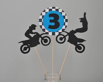 Dirt Bike centerpiece, Motor Cross centerpiece, Dirt Bike Party