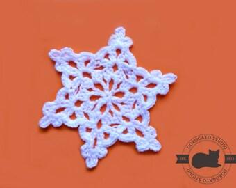 Crochet Snowflake Pattern, Crochet Christmas Ornament Pattern, Christmas PDF Pattern, Crochet Christmas Pattern, Instant Download /8003/