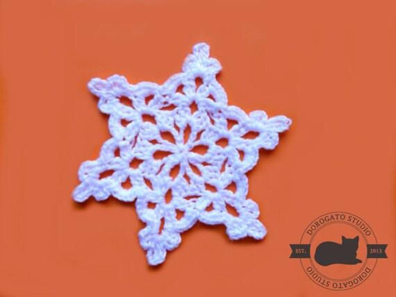 Crochet Snowflake Pattern, Crochet Christmas Ornament Pattern ...