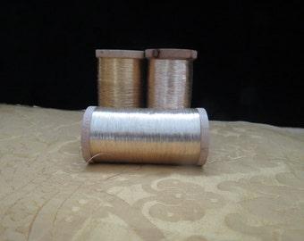 Vintage French Metallic Gold Thread