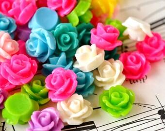 120 Rose Cabochons 10mm