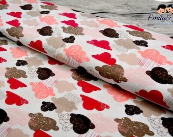 Jersey RAINY DAY PARADE clouds fabrics