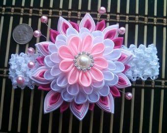 Large Kanzashi Flower Headband