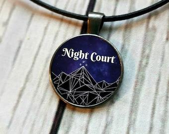 Night Court Pendant Necklace, ACOMAF, ACOTAR, Velaris, night court, nightcourt, Feyre, Rhysand, Feysand, Rhys