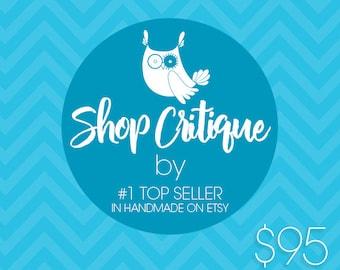 Etsy Shop Critique – Etsy Coaching – 60 minutes Call, Personalized Shop Critique by top seller Prettygrafik on Etsy