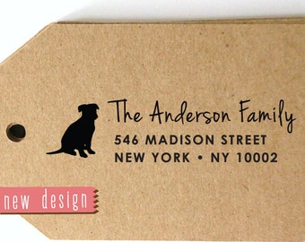 CUSTOM pre inked address STAMP from USA, custom address stamp, pre inked address stamp, return address stamp with proof - Dog Lover c6-38