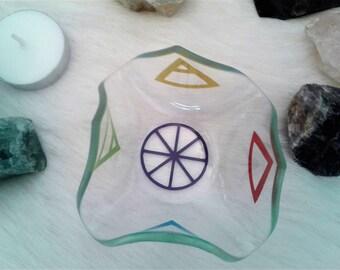 Elemental Glass Tea Light Holder