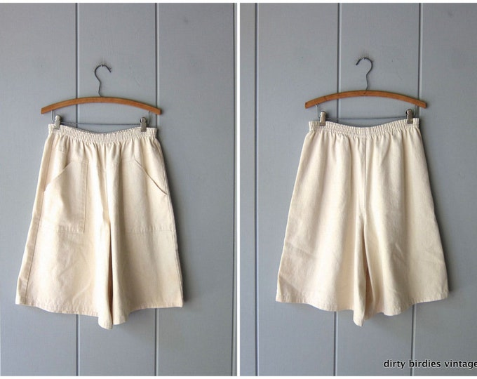 Natural Canvas Palazzo Shorts