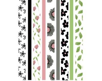 September Garden Washi Tape Strips 003