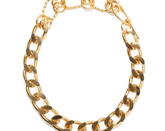 Chunky Chain Choker - Gold Collar Choker - Bling Chain Necklace - Hip Hop - Elegant Slave Collar - LUX