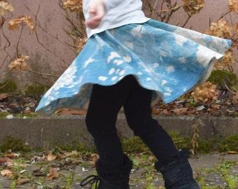 Nani Iro cotton-linen girl circle skirt, skirt little skirt for girls, girl