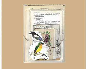 Vintage Journal Ephemera, Assorted Antique Papers for mixed media collage art