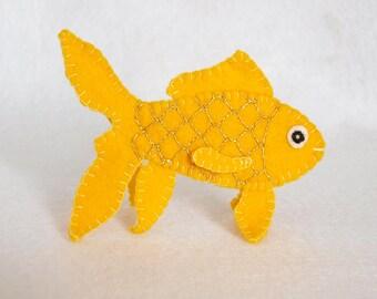 Goldfish finger puppet, goldfish, felt finger puppet, finger puppet, fish, goldfish felt finger puppet, puppet