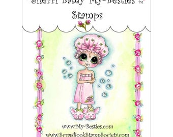 "SUSIE SPLASH - My BESTIEs by SHERRi BALDY - "" Bath Time Bestie""  Clear Stamp - New in Pkg."