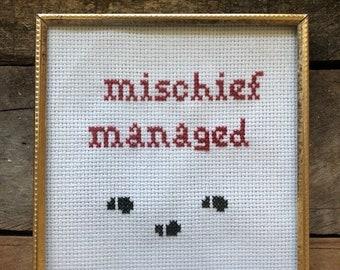 Mischief Managed Cross Stitch
