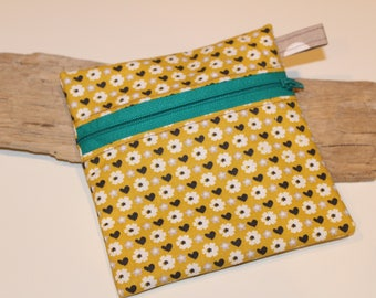 "Zipper Pouch | Gift Pouch | Cosmetic Bag | Christmas Gift | 5"" w x 5.5"" h"
