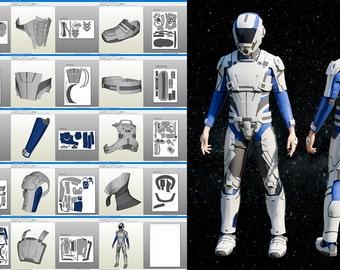 Mass Effect Andromeda cosplay suit Pepakura pattern DIY