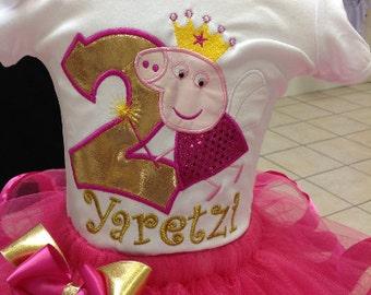 Peppa Pig Birthday Shirt