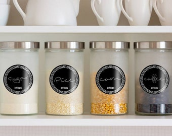 12 household round write-on labels