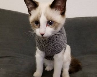 Cat sweater, sweater for cats, kitten sweater, sweater for kitten