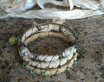Recycled Sari Silk Bracelet