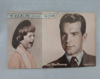Vintage Mid Century Arcade Cards Then and Now Fred MacMurray